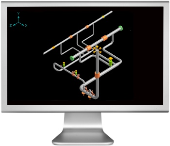 image of caepipe graphics display (rendered) on a computer monitor