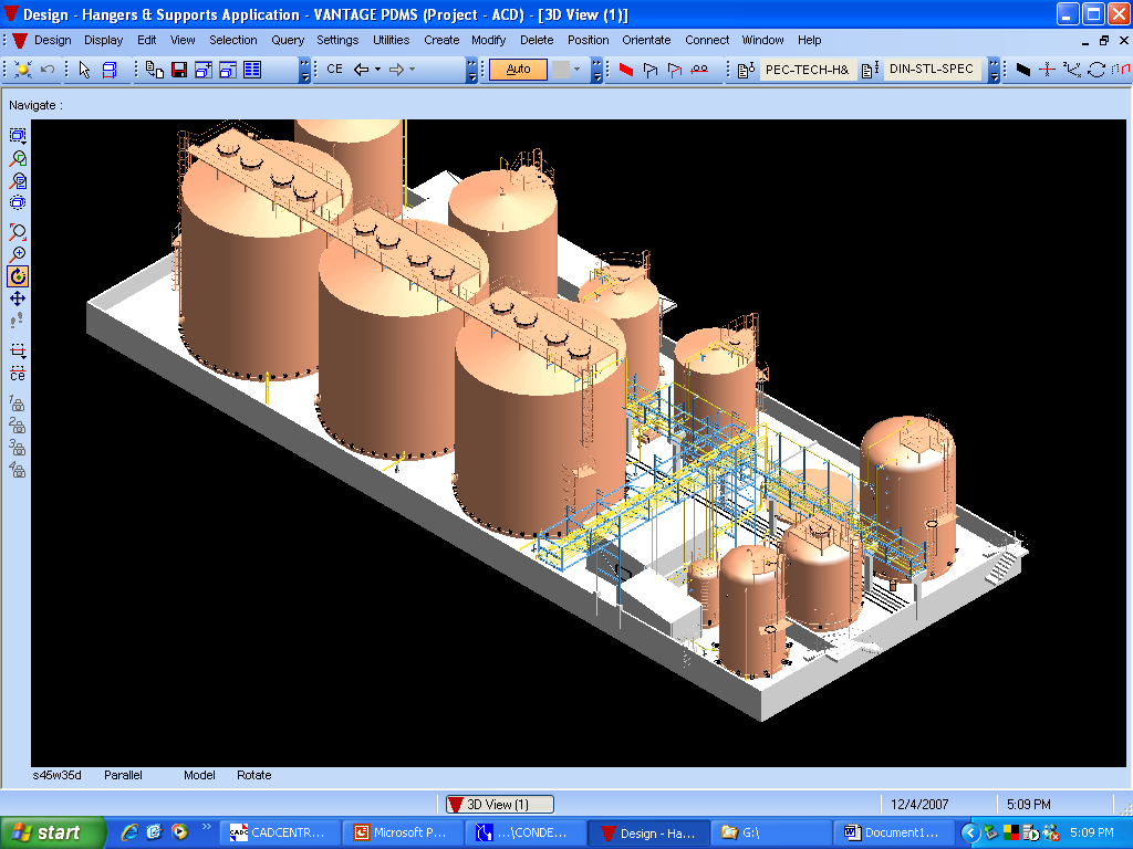 ISO view of the Tank Farm Layout 2