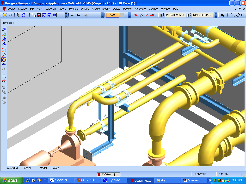 Large Diameter Piping with Secondary Support Design & Layout