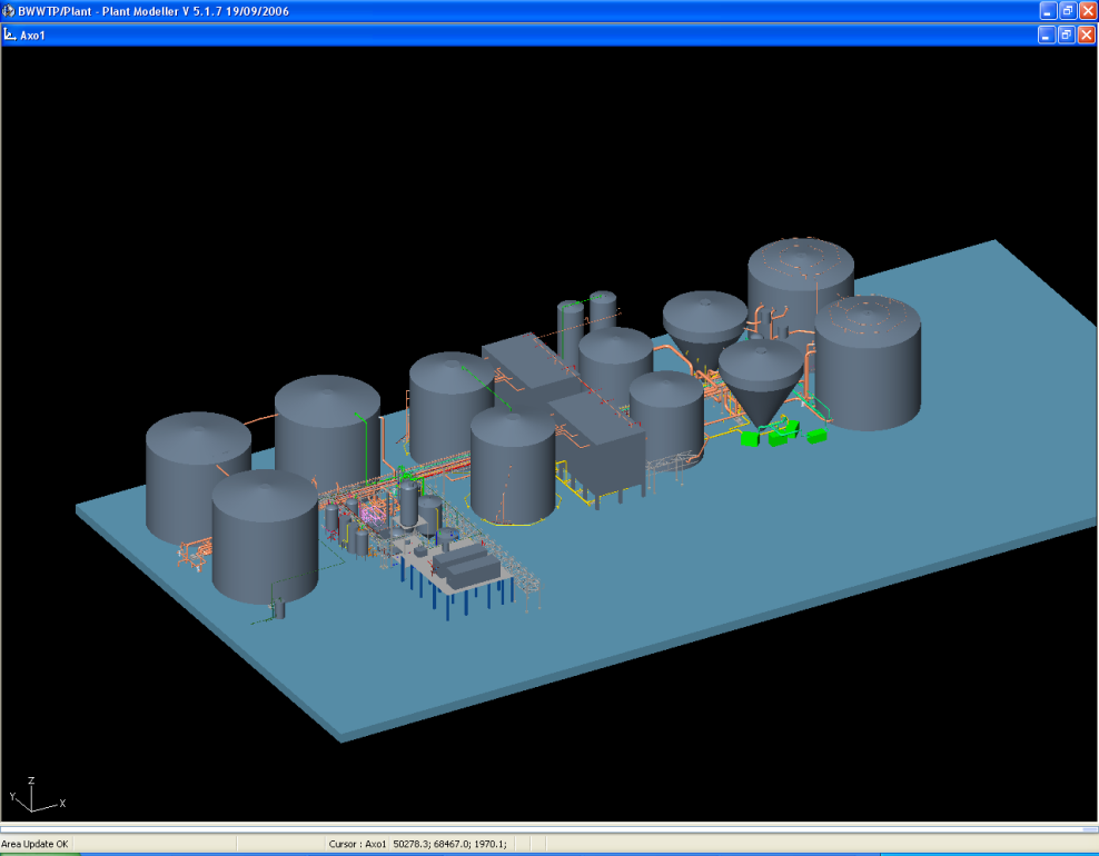 ISO view of the Tank Farm Layout