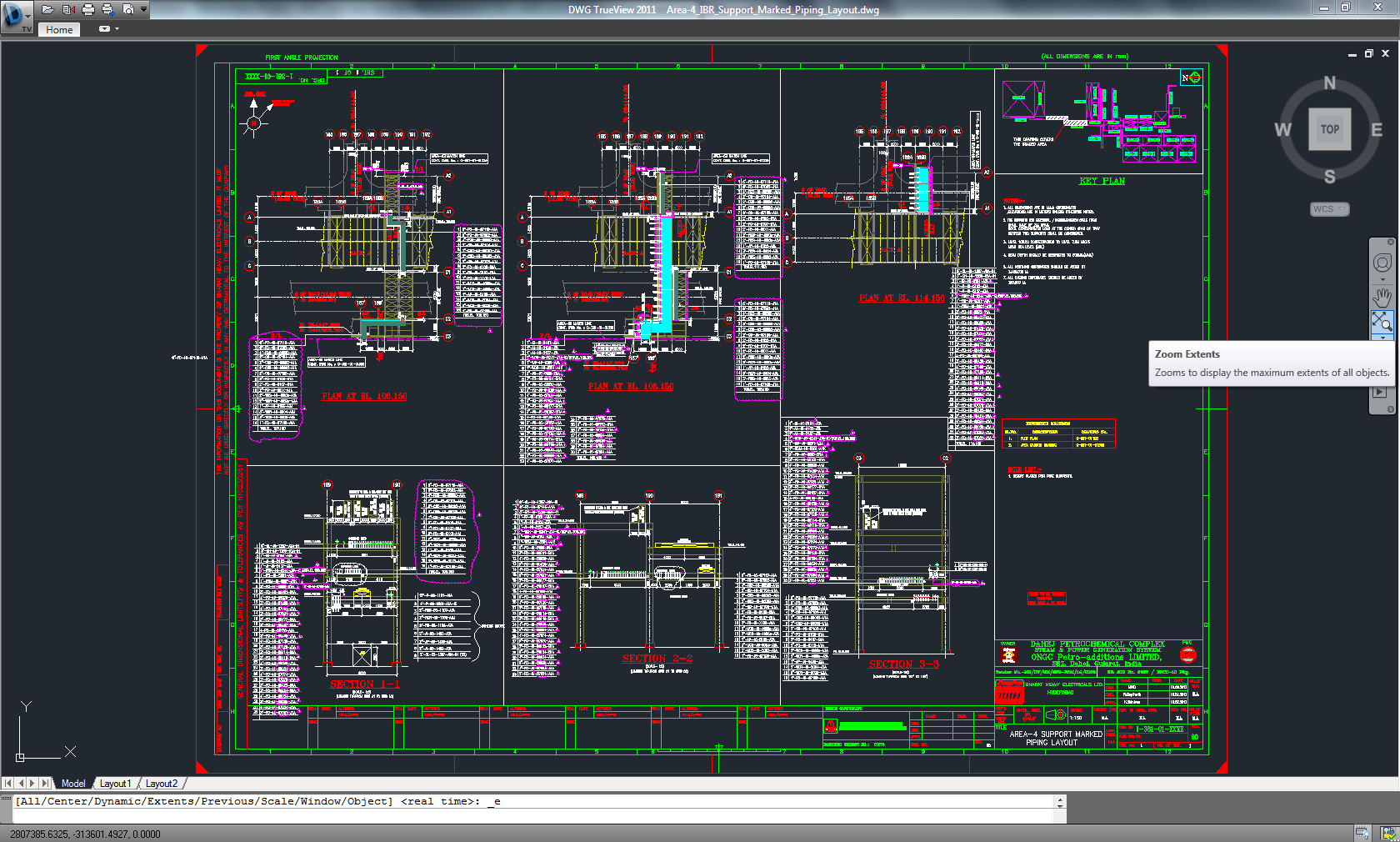Power Plant Piping Layout Wiring Library Design Book Area Wise Support Marked Using 3d Software